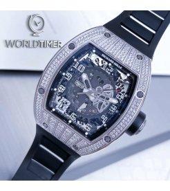 Richard Mille RM 010 White Gold Med Set Diamonds