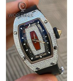 Richard Mille [NEW] RM 07-01 White Gold Full Set Diamonds Automatic Ladies