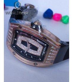 Richard Mille [NEW] RM 07-01 Rose Gold Med Set Diamonds Onyx Dial