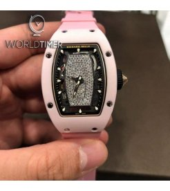 Richard Mille [NEW] RM 07-01 Pink Ceramic Automatic Ladies Watch