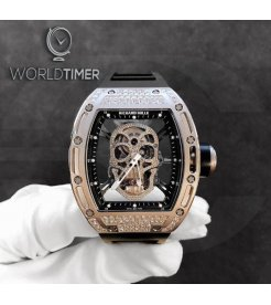 Richard Mille [LIMITED 1 PIECE] RM 52-01 Skull White Gold Diamond Tourbillon