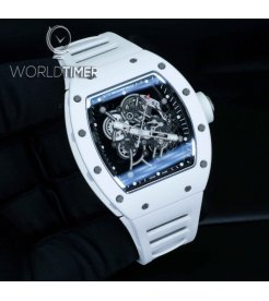 Richard Mille RM 055 Bubba Watson White Ceramic Mens Watch