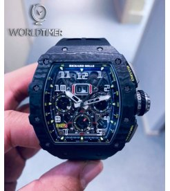 Richard Mille [2018 MINT] RM 11-03 Black Carbon NTPT Flyback Chronograph