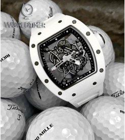 Richard Mille RM 055 Bubba Watson White Ceramic Mens Watch