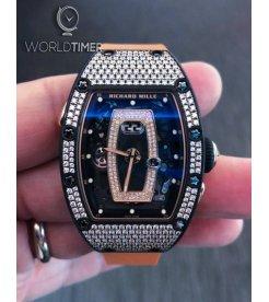 Richard Mille [NEW]RM 037 NTPT Full Pave Diamonds Ladies Watch