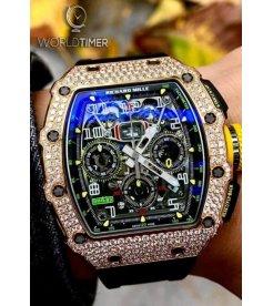 Richard Mille [NEW] RM 11-03 Rose Gold Med Set Diamonds Watch