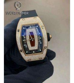 Richard Mille RM 07-01 Rose Gold Full Set Diamonds Watch