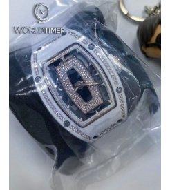Richard Mille [NEW] RM 07-01 White Ceramic Diamonds Rose Gold Onyx Dial