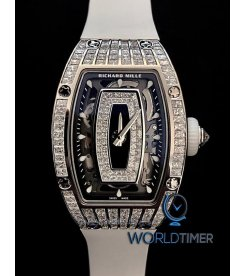 Richard Mille [NEW] RM 07-01 White Gold Med Set Baguette Ladies