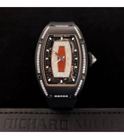 Richard Mille [NEW] RM 07-01 Black Ceramic Diamond Red Lip Automatic Ladies