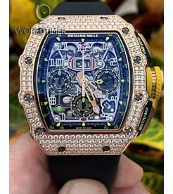 Richard Mille [NEW] RM 11-03 Rose Gold Full Set Diamonds Flyback Chronograph