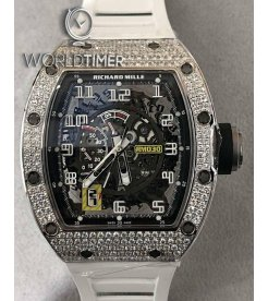 Richard Mille [NEW] RM 030 White Gold Full Diamonds Mens Watch