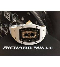 Richard Mille [NEW] Ladies RM 007 White Ceramic Black Lip RM7 Watch