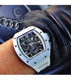 Richard Mille [2015 USED][LIMITED 30 PIECE] RM 011 White Ghost Flyback Chronograph - SOLD!!