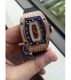 Richard Mille [NEW] RM 07-01 RG Med Set Diamond Jasper Dial Ladies Watch