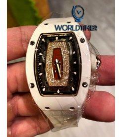 Richard Mille [NEW] RM 007 White Ceramic Jasper Dial Automatic Ladies Watch