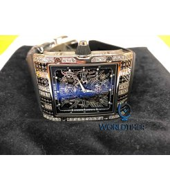 Richard Mille [NEW] RM 017 Extra Flat Tourbillon White Gold Baguette Mens Watch