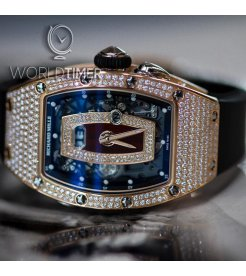 Richard Mille [NEW] RM 037 Automatic Rose Gold Ladies Full Pave Diamond Watch