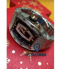 Richard Mille [NEW] RM 037 White Gold Ladies Med Set Diamonds White Gold Closed Bracelet