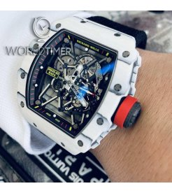 "RICHARD MILLE [2018 USED][LIMITED 35 PIECE] RM 35-01 TPT WHITE CARBON LAST EDITION "" RAFAEL NADAL "" 2018"