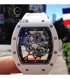 Richard Mille [NEW] RM 055 Bubba Watson White Manual Winding Ceramic Watch