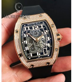 Richard Mille [NEW] RM 67-01 Rose Gold Full Set Diamonds Automatic Extra Flat Mens Watch