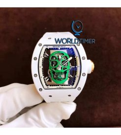 Richard Mille [USED][LIMITED 6 PIECE] RM 52-01 Green Skull Tourbillon Watch - SOLD!!