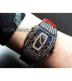 RICHARD MILLE [NEW]RM 037 NTPT Rose Gold Med Set Pave Diamonds Ladies
