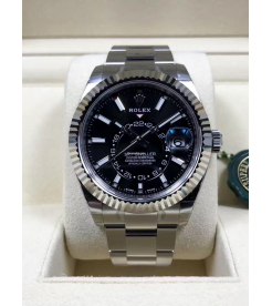Rolex NEW-全新香港行貨 326934 Black Sky-Dweller 42mm Stainless Steel Watch