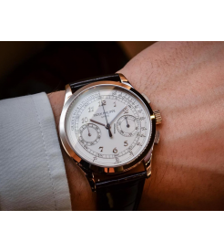 Patek Philippe NEW Complications Chronograph Silvery White Dial 5170G