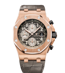 Audemars Piguet [NEW] 26470OR.OO.A125CR.01 Royal Oak Offshore Chronograph in Rose Gold Gray Dial