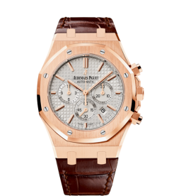 Audemars Piguet [NEW] Royal Oak Chronograph Rose Gold White Dial 26320OR.OO.D088CR.01 (Retail:HK$301,000)