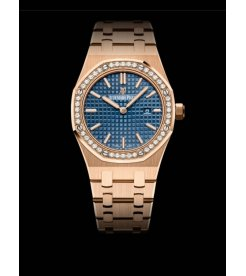 Audemars Piguet [NEW] Royal Oak Quartz 67651OR.ZZ.1261OR.02 Blue Dial Ladies