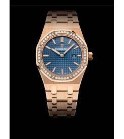 Audemars Piguet [NEW] Royal Oak Quartz 67651OR.ZZ.1261OR.02 Blue Dial Ladies