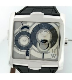 Harry Winston [NEW] Avenue Squared A² automatic 18K white gold timepiece white light dial AVSATZ45WW004