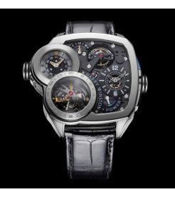 Harry Winston [NEW] Histoire de Tourbillon 6 limited edition, manual 18K white gold timepiece HCOMTT55WW001