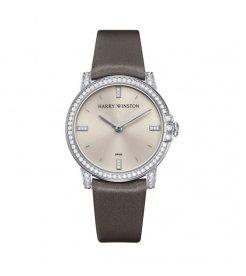 Harry Winston [NEW] Midnight 32mm quartz 18K white gold timepiece white light indexes set dial MIDQHM32WW002