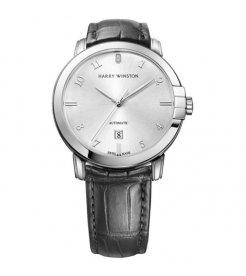 Harry Winston [NEW] Midnight 42mm automatic 18K white gold timepiece white light dial MIDAHD42WW004