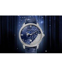 Harry Winston [NEW] Midnight Diamond Drops 39mm quartz 18K white gold timepiece MIDQMP39WW004