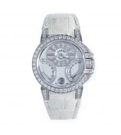 Harry Winston [NEW] Ocean Biretrograde 36mm automatic 18K white gold white light mother of pearl partially OCEABI36WW004