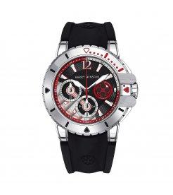 Harry Winston [NEW] Ocean Diver automatic 18K white gold and zalium timepiece black dark dial OCEACH44WZ007