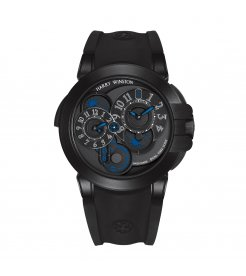 Harry Winston [NEW] Ocean Dual Time Black Edition automatic zalium black DLC OCEATZ44ZZ007