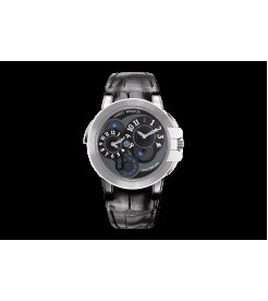 Harry Winston [NEW] Ocean Dual Time™ automatic 18K white gold OCEATZ44WW002