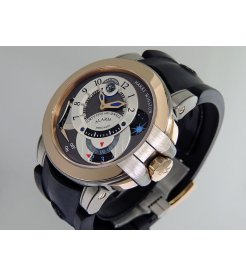 Harry Winston [NEW] Ocean Excenter Alarm manual 18K rose gold and zalium OCEMAL44RZ001