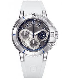 Harry Winston [NEW] Ocean Sport™ Ladies' Chronograph automatic zalium unique setting OCSACH38ZZ002
