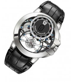 Harry Winston [NEW] Ocean Tourbillon Jumping Hours limited edition manual 18K white gold OCEMTJ45WW001