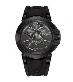 Harry Winston [NEW] Ocean Triple Retrograde Chronograph automatic zalium black DLC black dark dial OCEACT44ZZ003