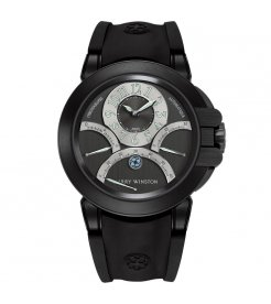Harry Winston [NEW] Ocean Triple Retrograde Chronograph automatic zalium black DLC black dark dial OCEACT44ZZ004