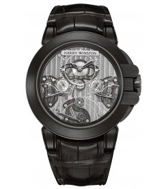 Harry Winston [NEW] Ocean Triple Retrograde Chronograph automatic zalium black DLC OCEACT44ZZ002