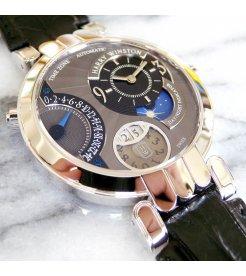 Harry Winston [NEW] Premier Excenter Time Zone automatic 18K white gold PREATZ41WW002